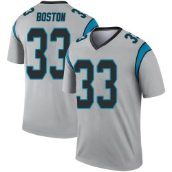 Legend Youth Tre Boston Carolina Panthers Nike Inverted Silver Jersey -